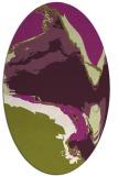 rug #729325 | oval purple rug