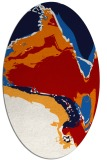 rug #729337 | oval red abstract rug