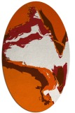 rug #729365 | oval red-orange abstract rug
