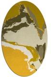 rug #729385   oval yellow abstract rug