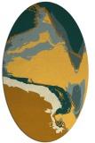 rug #729401 | oval yellow rug