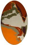 rug #729413 | oval beige abstract rug