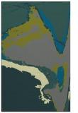 rug #729577 |  green abstract rug