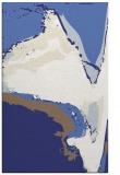 rug #729729 |  blue abstract rug