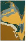 rug #729753 |  yellow abstract rug