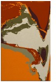 rug #729765    orange abstract rug