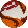 rug #730069 | round red-orange abstract rug