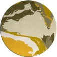 rug #730089 | round yellow abstract rug