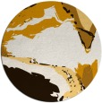 rug #730097 | round brown abstract rug