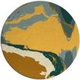 rug #730105 | round yellow abstract rug