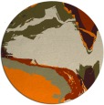 rug #730117   round orange abstract rug