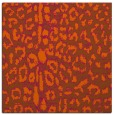 rug #730769 | square red-orange animal rug