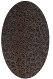 rug #730868 | oval animal rug