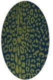 rug #730893 | oval blue popular rug