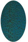 rug #730937 | oval blue animal rug