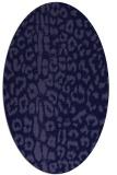 rug #730941   oval blue-violet animal rug