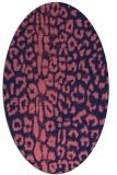 rug #730949 | oval pink animal rug
