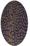 rug #730965 | oval blue-violet animal rug