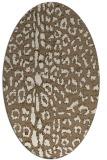 rug #731009 | oval beige animal rug