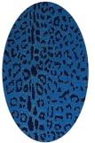 rug #731025 | oval blue rug