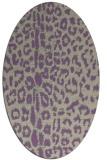 rug #731037 | oval beige animal rug