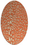 rug #731053 | oval orange animal rug