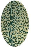 rug #731061 | oval yellow animal rug