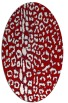 rug #731097 | oval red animal rug