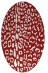 rug #731105 | oval red animal rug