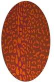 rug #731121 | oval red-orange animal rug