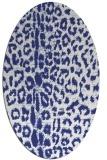 rug #731137 | oval white animal rug
