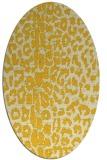 rug #731145 | oval yellow animal rug