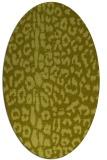 rug #731177 | oval light-green animal rug