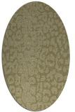 rug #731181   oval light-green rug
