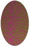 rug #731185   oval light-green animal rug