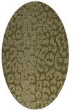 rug #731189   oval light-green animal rug