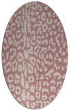 rug #731197 | oval pink animal rug