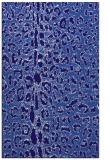 rug #731313 |  blue-violet animal rug