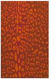 rug #731473 |  red-orange animal rug