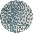 rug #731585 | round white animal rug