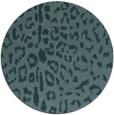 rug #731633 | round blue-green animal rug