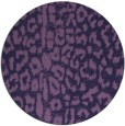 rug #731657 | round purple rug