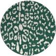 rug #731693 | round blue-green animal rug