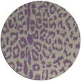 rug #731741 | round beige animal rug