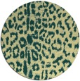 rug #731765 | round yellow animal rug
