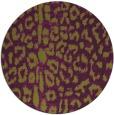 rug #731789 | round green animal rug