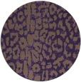 rug #731793 | round purple animal rug