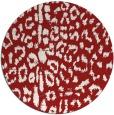 rug #731809 | round red animal rug