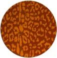 rug #731817   round red-orange animal rug