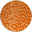 rug #731821   round red-orange animal rug